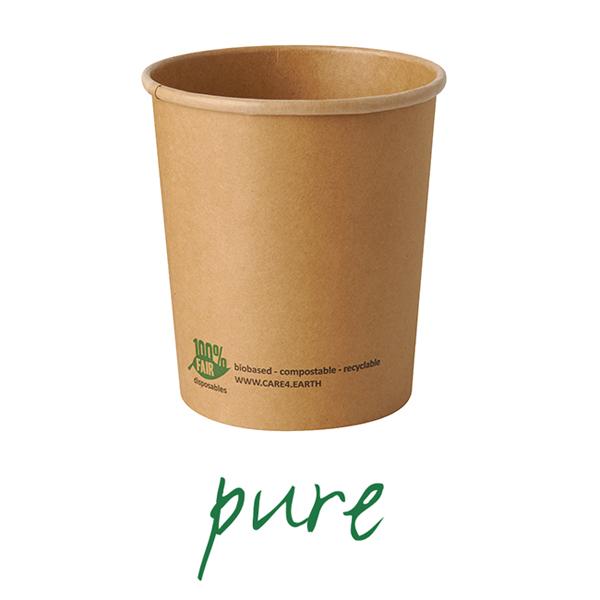 Kubki z papieru na zupę - okrągłe, brązowe (pojemność - 940 ml), 500 szt. w op.