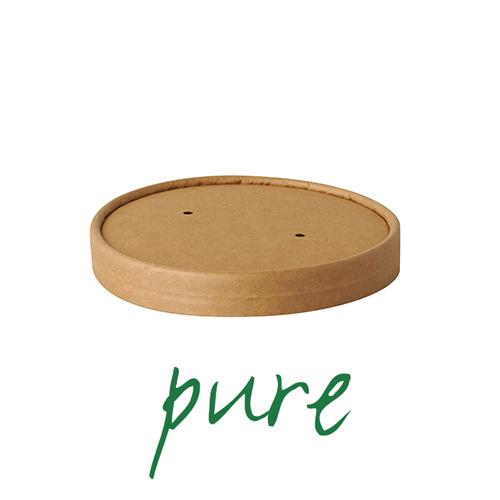 Pokrywki do kubków z papieru na zupę - okrągłe, brązowe (średnica 11,5 cm), 500 szt. w op.