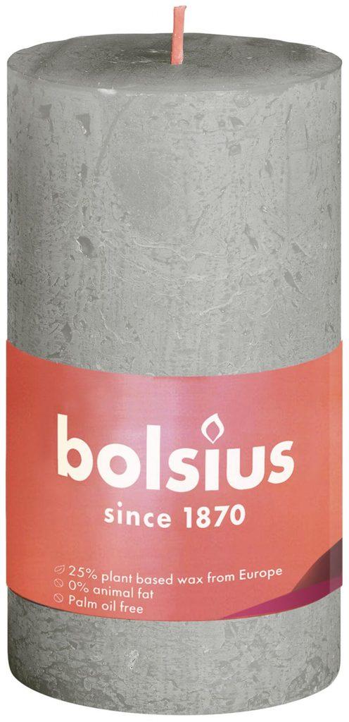 Świeca Pieńkowa Rustic Shine 100/50 mm mglisty zielony 8 szt. w opak.