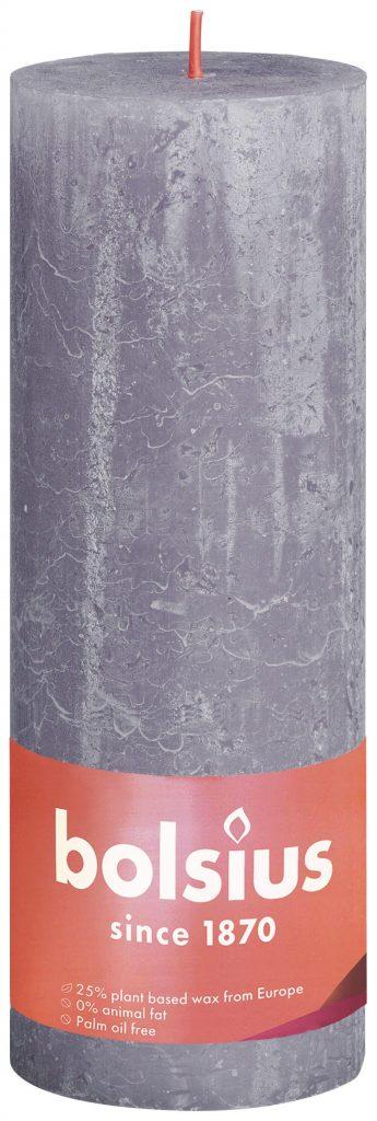 Świeca Pieńkowa Rustic Shine 190/68 mm matowa lawedna 4 szt. w opak.