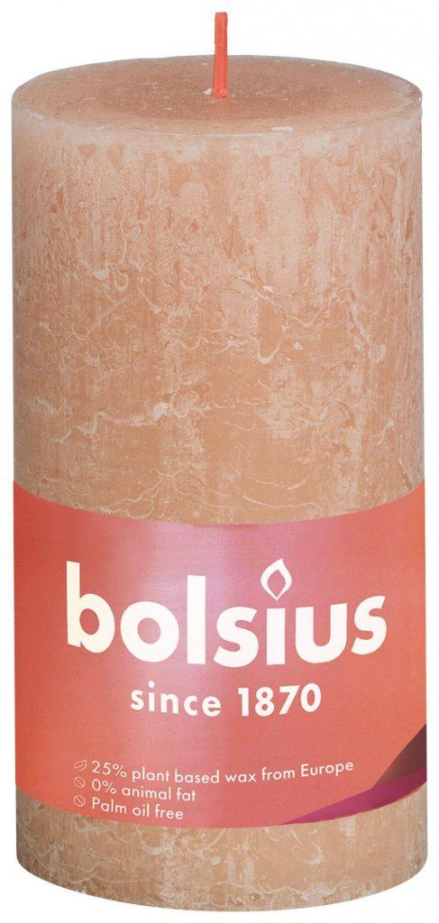 Świeca Pieńkowa Rustic Shine 130/68 mm mglisty róż 4 szt. w opak.
