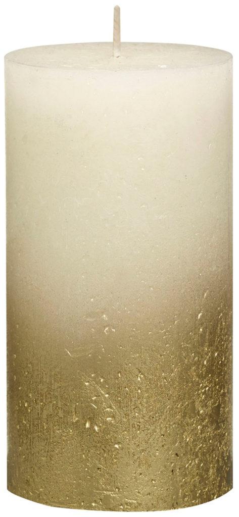 Świeca Pieńkowa Rustic Metal Fading 130/68 mm złoto kremowy 6 szt. w opak.