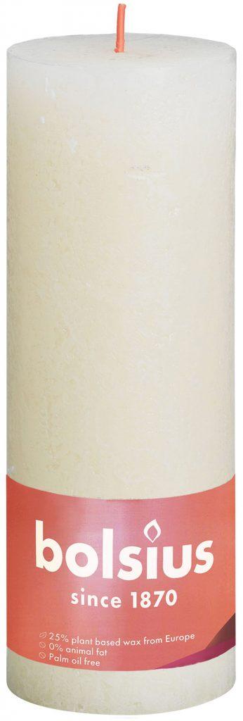 Świeca Pieńkowa Rustic Shine 190/68 mm delikatny perłowy 4 szt. w opak.
