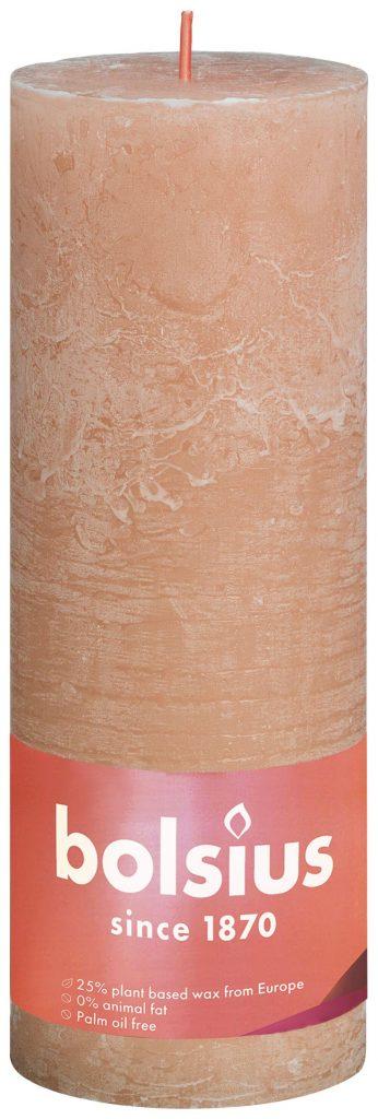 Świeca Pieńkowa Rustic Shine 190/68 mm mglisty róż 4 szt. w opak.