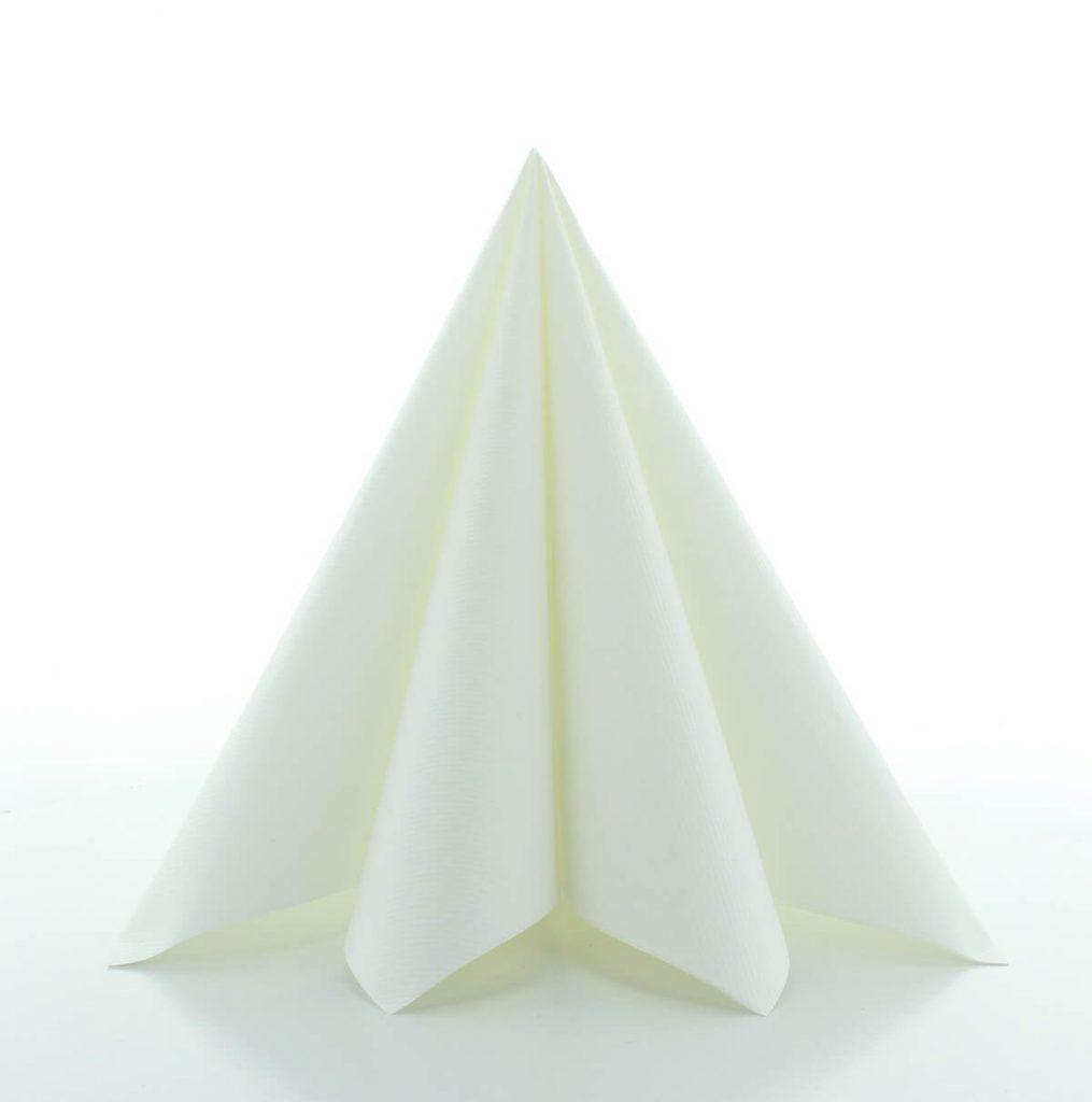 Serwetki Airlaid Mank, składane na 1/4, 40 cm x 40 cm, Białe, 300 szt. w op.