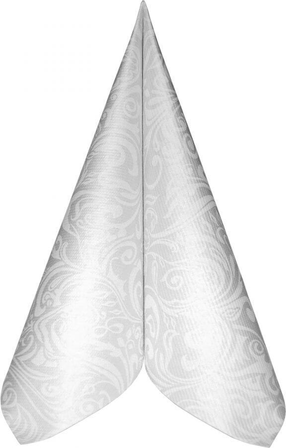 Serwetki Airlaid Mank, składane na 1/4, 40 cm x 40 cm, Lias Białe, 300 szt. w op.