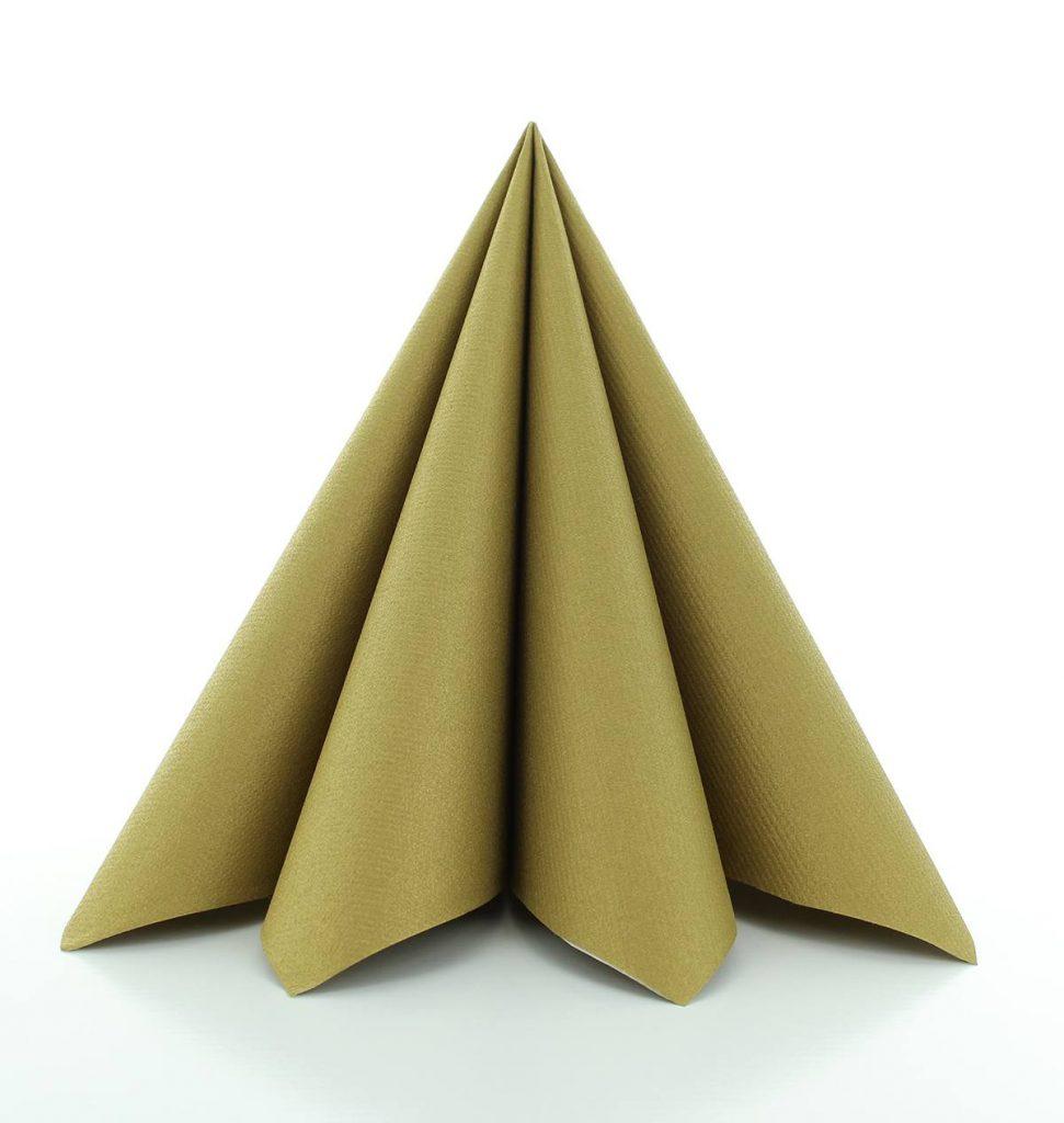 Serwetki Airlaid Mank, składane na 1/4, 40 cm x 40 cm, Złote, 300 szt. w op.