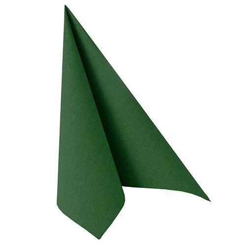 Serwetki Royal Collection, składane na 1/4, 40 cm x 40 cm, Ciemno Zielone, 250 szt. w op.