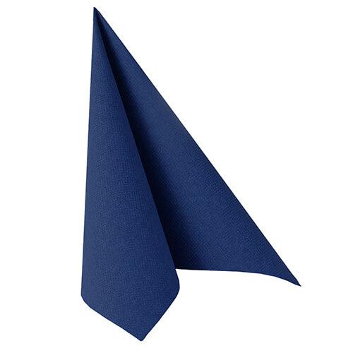 Serwetki Royal Collection, składane na 1/4, 40 cm x 40 cm, Ciemno Niebieskie, 250 szt. w op.