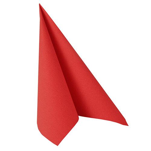 Serwetki Royal Collection, składane na 1/4, 40 cm x 40 cm, Czerwone, 250 szt. w op.
