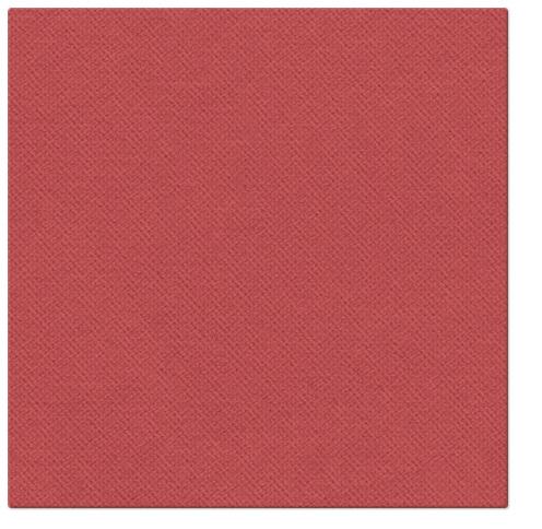 Serwetki Punta Punta, składane na 1/4, 38 cm x 38 cm, Czerwone, 400 szt. w op.