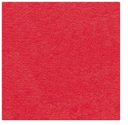 Serwetki Airlaid Paw, składane na 1/4, 40 cm x 40 cm, Czerwone, 800 szt. w op.