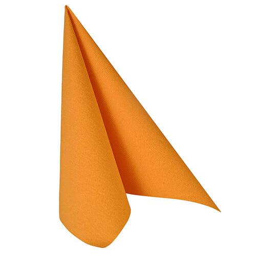 Serwetki Royal Collection, składane na 1/4, 40 cm x 40 cm, Pomarańczowe, 250 szt. w op.