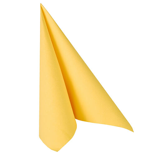 Serwetki Royal Collection, składane na 1/4, 40 cm x 40 cm, Żółte, 250 szt. w op.