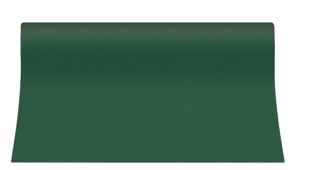 Bieżniki Airlaid Paw 40 cm x 24 m, Ciemno Zielone, 12 rolek w op.