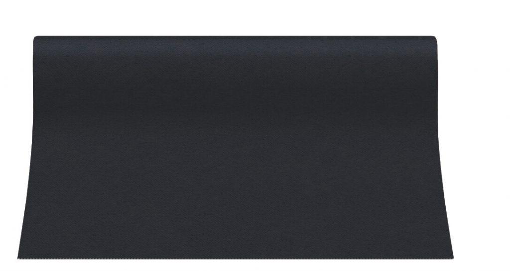 Bieżniki Airlaid Paw 40 cm x 24 m, Czarne, 12 rolek w op.