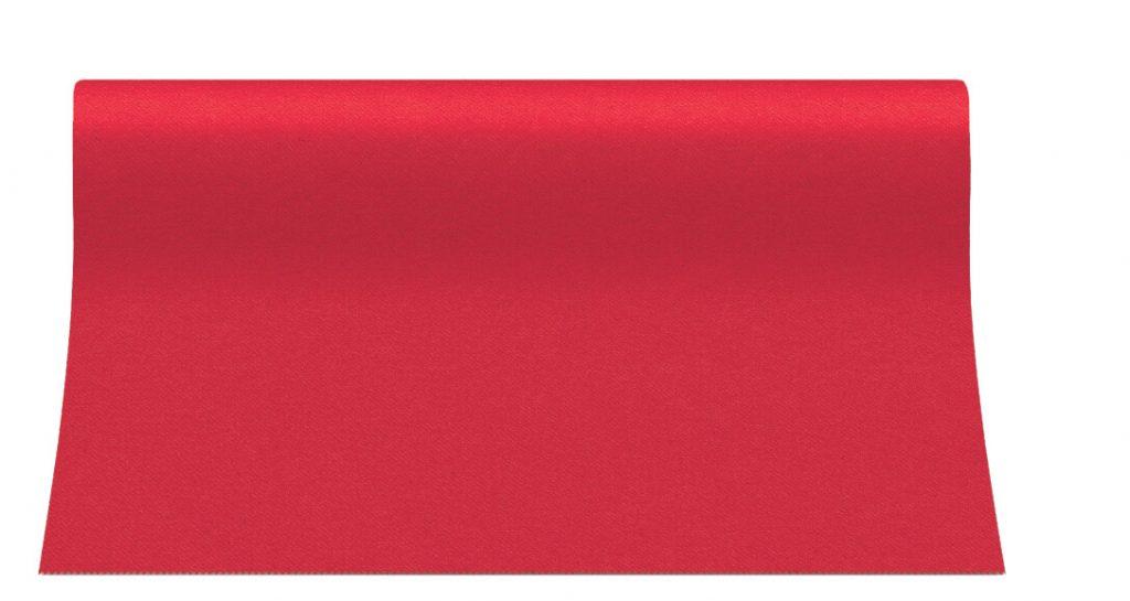 Bieżniki Airlaid Paw 40 cm x 24 m, Czerwone, 12 rolek w op.