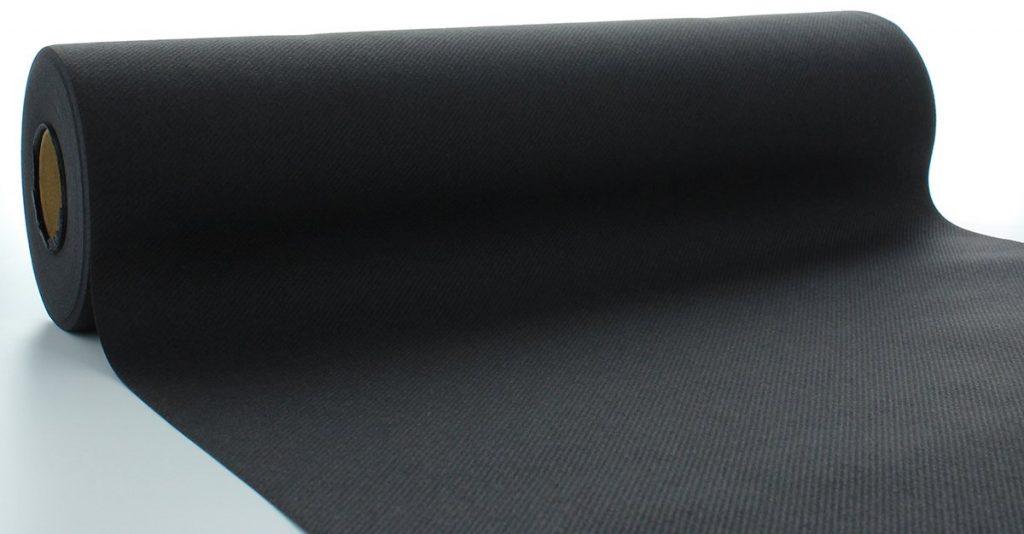 Bieżniki Airlaid Mank 40 cm x 24 m, Czarne, 4 rolki w op.