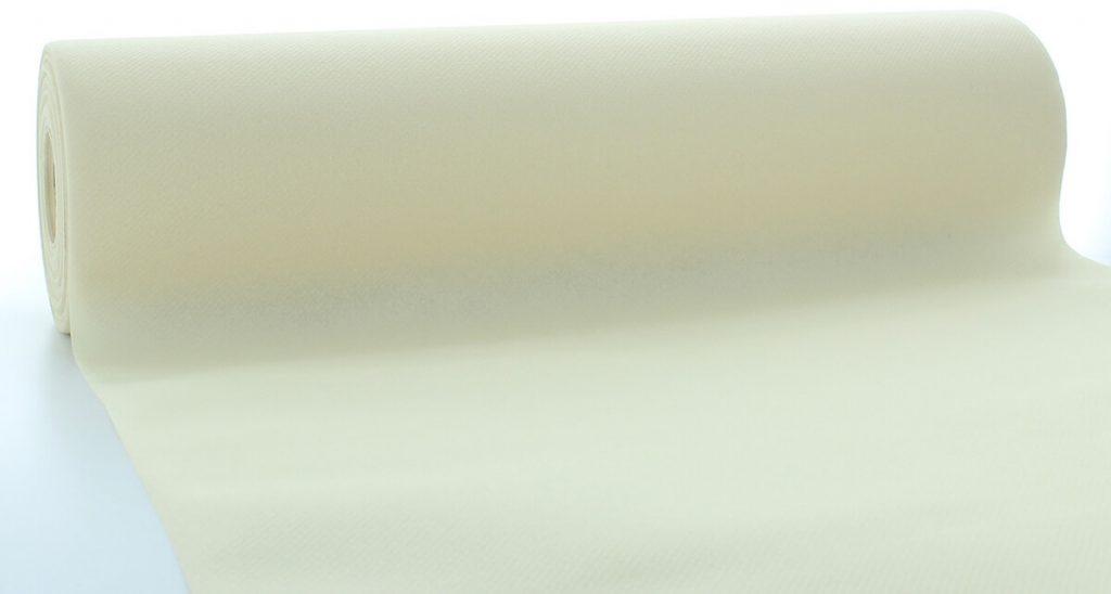 Bieżniki Airlaid Mank 40 cm x 24 m, Kremowe, 4 rolki w op.