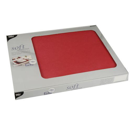 """Podkładki na stół z włókniny """"Soft Selection"""", 30 cm x 40 cm, Czerwone, 600 szt. w op."""