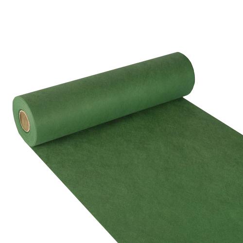 """Bieżniki imitujące tkaninę z włókniny, """"Soft Selection"""", 40 cm x 24 m, Ciemno Zielone, 4 rolki w op."""