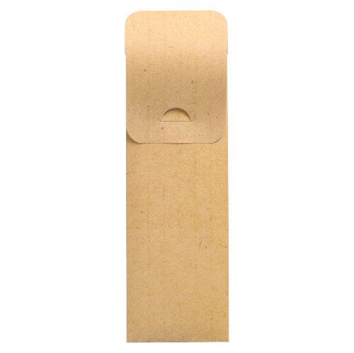Torebki na sztućce, 23,5 cm x 7,3 cm, kolor: Naturalny, z białą serwetką 2-warstwową 40 x 40 cm, 500 szt. w op.
