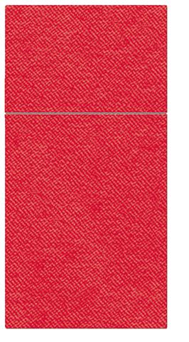 Kieszonki na Sztućce Airlaid Paw, składane na 1/8, 40 cm x 40 cm, Czerwone, 400 szt. w op.