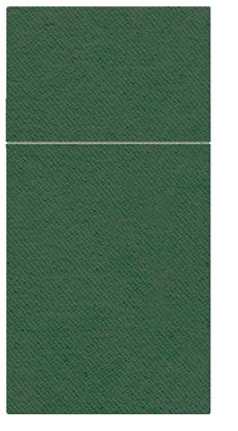 Kieszonki na Sztućce Airlaid Paw, składane na 1/8, 40 cm x 40 cm, Ciemno Zielone, 400 szt. w op.