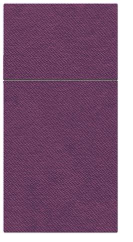 Kieszonki na Sztućce Airlaid Paw, składane na 1/8, 40 cm x 40 cm, Śliwkowe, 400 szt. w op.