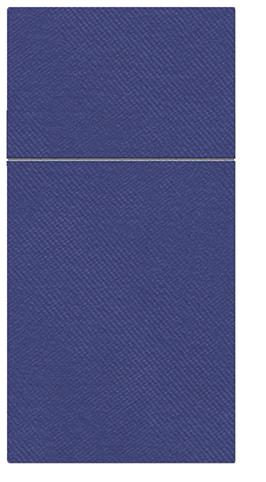 Kieszonki na Sztućce Airlaid Paw, składane na 1/8, 40 cm x 40 cm, Ciemno Niebieskie, 400 szt. w op.