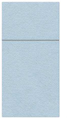 Kieszonki na Sztućce Airlaid Paw, składane na 1/8, 40 cm x 40 cm, Jasno Niebieskie, 100 szt. w op.