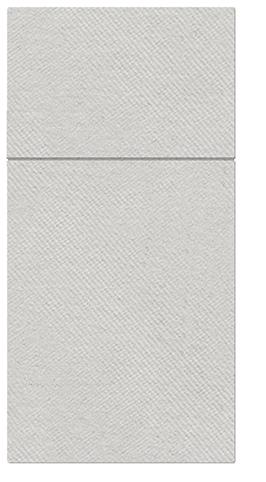 Kieszonki na Sztućce Airlaid Paw, składane na 1/8, 40 cm x 40 cm, Srebrne, 100 szt. w op.