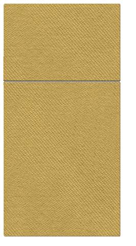 Kieszonki na Sztućce Airlaid Paw, składane na 1/8, 40 cm x 40 cm, Złote, 100 szt. w op.