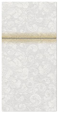 Kieszonki na Sztućce Airlaid Paw, składane na 1/8, 40 cm x 40 cm, ROCOCO Białe, 100 szt. w op.
