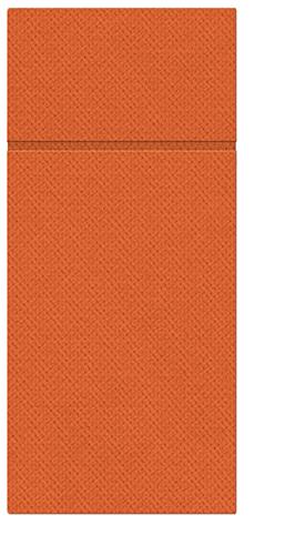 Kieszonki na Sztućce Punta Punta, składane na 1/8, 32 cm x 38 cm, Pomarańczowe, 400 szt. w op.