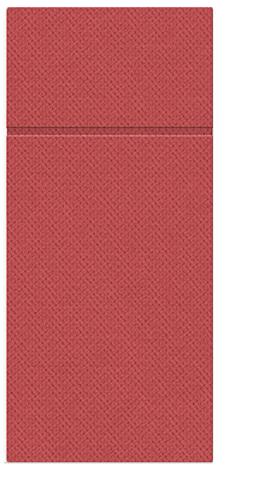 Kieszonki na Sztućce Punta Punta, składane na 1/8, 32 cm x 38 cm, Czerwone, 400 szt. w op.