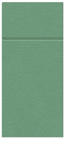 Kieszonki na Sztućce Punta Punta, składane na 1/8, 32 cm x 38 cm, Ciemno Zielone, 400 szt. w op.