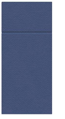 Kieszonki na Sztućce Punta Punta, składane na 1/8, 32 cm x 38 cm, Ciemno Niebieskie, 400 szt. w op.