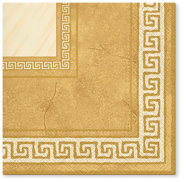 Serwetki Tissue 3-warstwowe, 33 x 33, Decor ATHENA beżowe, składane na 1/4, 240 szt. w op.