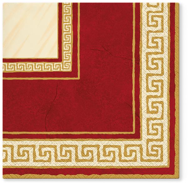 Serwetki Tissue 3-warstwowe, 33 x 33, Decor ATHENA ciemno czerwone, składane na 1/4, 240 szt. w op.