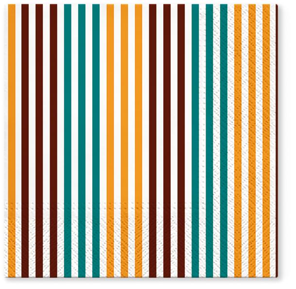 Serwetki Tissue 3-warstwowe, 33 x 33, Decor SIMPLE LINES Miodowe, składane na 1/4, 240 szt. w op.