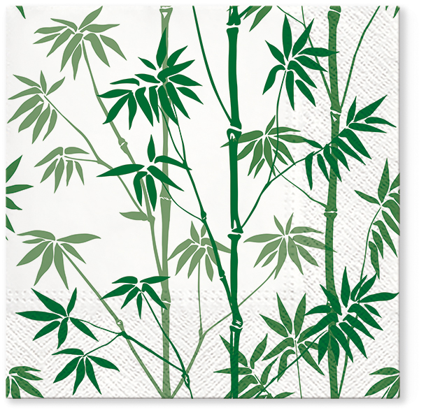 Serwetki Tissue 3-warstwowe, 33 x 33, Decor BAMBOO FOREST, składane na 1/4, 240 szt. w op.