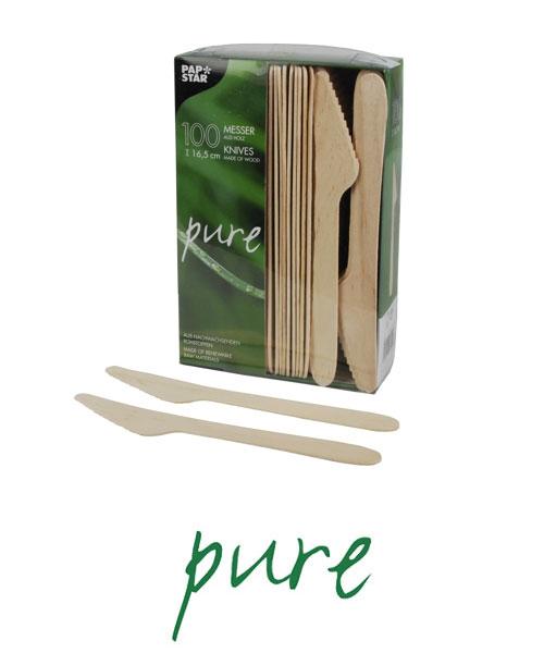 """Noże z drewna, """"pure"""", 16,5 cm, 1000 szt. w op."""