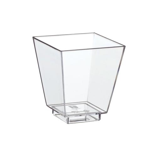 """""""Fingerfood"""" - pojemniki na przekąski, PS, kształt prostokątny, 50ml, 5 cm x 4,5 cm x 4,5 cm, krystaliczne, 800 szt. w op."""
