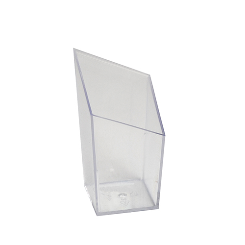 """""""Fingerfood"""" - kubki, PS, kształt prostokątny, 50 ml, 7,9 cm x 4,2 cm x 4,2 cm, krystaliczne, """"Diamond"""", 360 szt. w op."""
