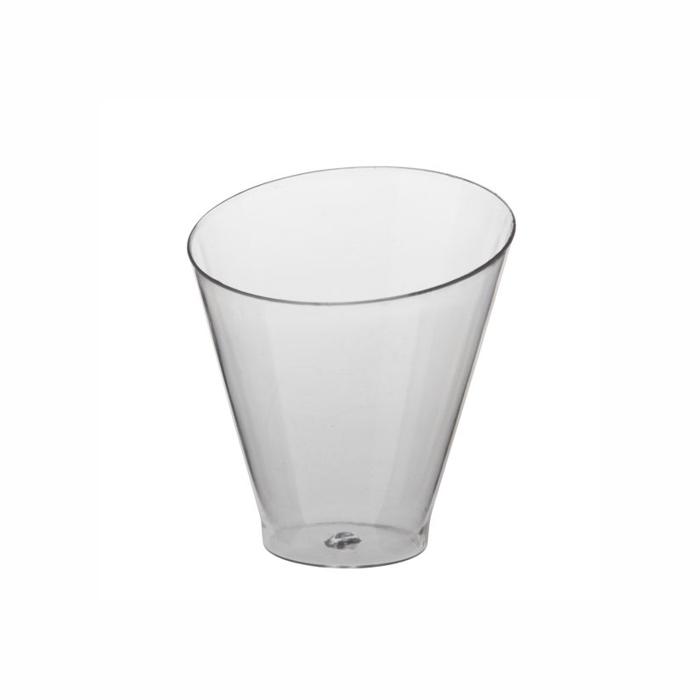 """""""Fingerfood"""" - kubki, PS, okrągłe, 70 ml, średnica 6 cm, 6,4 cm, krystaliczne, """"Diagonal"""", 450 szt. w op."""