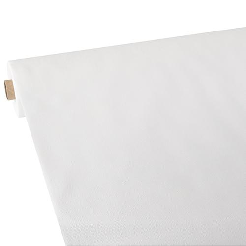 """Obrus z włókniny przypominającej tkaninę, """"Soft Selection Plus"""", 118 cm x 25 m, Biały, 2 rolki w op."""