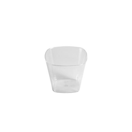 """""""Fingerfood"""" - kubki, PS, kształt prostokątny, 50 ml, 4,2 cm x 5 cm x 5 cm, krystaliczne, 1400 szt. w op."""