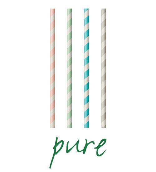 """Słomki z papieru, """"pure"""", średnica 6 mm, 20 cm, Kolorowe, """"Stripes"""", 1000 szt. w op."""