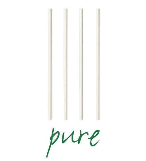 """Słomki z papieru, """"pure"""", średnica 6 mm, 20 cm, Białe, 1000 szt. w op."""